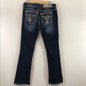 Rock Revival Mid-Rise Distressed Bootcut Jeans 30